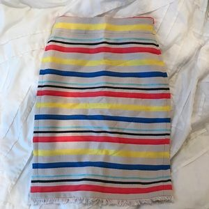 J. Crew Colorful Jacquard Stripe Skirt